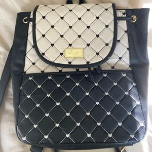 Betsey Johnson quilted back pack